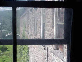 Looking west, third floor of the Cutting Shop, Dorflinger Glass Works, White Mills.