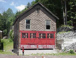 Recently relocated White Mills Fire House