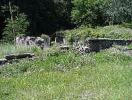 Foundation Ruin, Factory Yard Area, Dorflinger Glass Works, White Mills